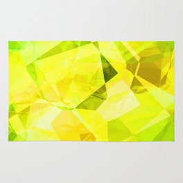 Pale Yellow Poinsettia 1 Abstract Polygons 1 Rug