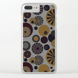 Circle Frenzy - Grey Clear iPhone Case