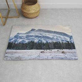 Banff National Park landscape Rug