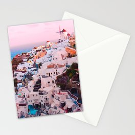 Oia town Santorini Stationery Cards