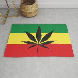 Marijuana leaf Rug