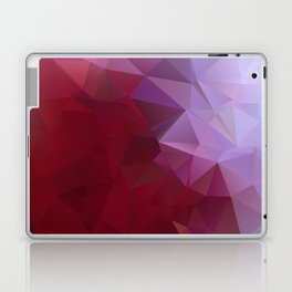 POPPY RED AND LILAC LOWPOLY Laptop & iPad Skin