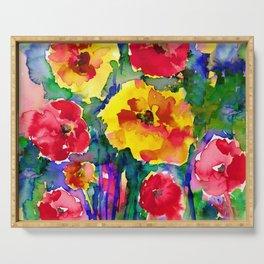 Floral Enchantment No.17B by Kathy Morton Stanion Serving Tray