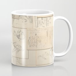 Artist Paul Cézanne Million Dollar Drawing Collage Quilt Coffee Mug