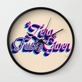 Zero F*cks Given – CMYK Palette Wall Clock