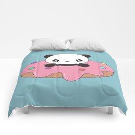 Kawaii Cute Panda Donut Comforters
