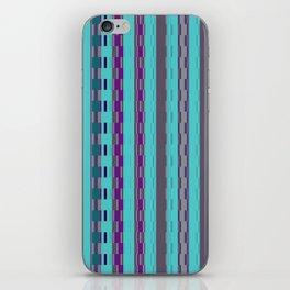 Modern Stripes Turquoise Purple iPhone Skin