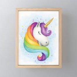 Rainbow Unicorn Framed Mini Art Print