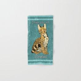 Ocelot Pun Hand & Bath Towel