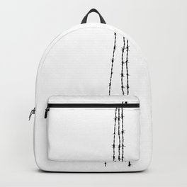 barb wire 4 Backpack
