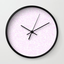 Tiny Spots - White and Pastel Violet Wall Clock