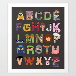 TMNT ABCs Art Print