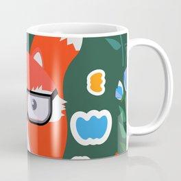 Fox with glasses and flowers Coffee Mug