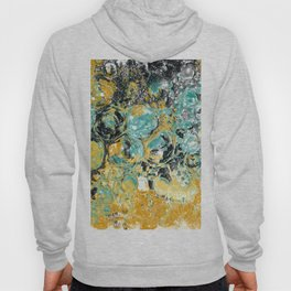 Copper and Turquoise Sea Bubbles Hoody