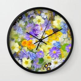Floral Design Wall Clock