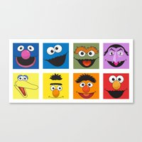 sesame street Canvas Prints featuring Sesame Street  by Jconner