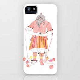 Knitster Girl Sweater & Socks iPhone Case