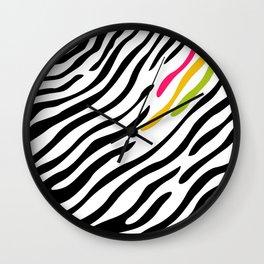 Zebra print. Multicolor Wall Clock