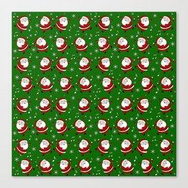 Dancing Santa pattern Canvas Print