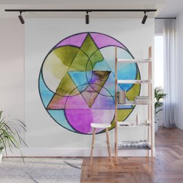 Order in the Cosmos Mandala Wall Mural
