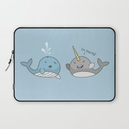 Horny Narwhal Laptop Sleeve