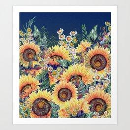 Summer Garden 1 Art Print
