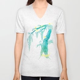 Tree Birds Unisex V-Neck