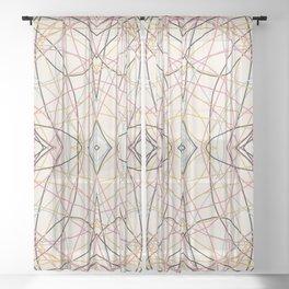 Filigree Clored Lines Etiainen Sheer Curtain