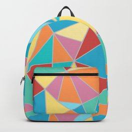 Festive, Triangle, Geomtric Art, Colourful Prints Backpack