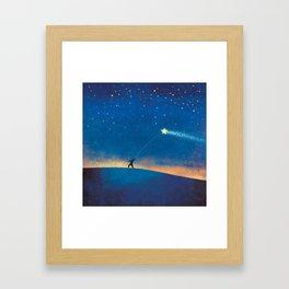 Stars Kite Framed Art Print