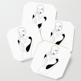 Lined pose Coaster