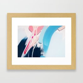 Even After All  #4 - Abstract on perspex by Jen Sievers Framed Art Print