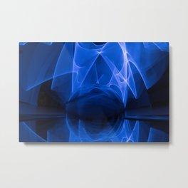Abstract Glass Ball Metal Print