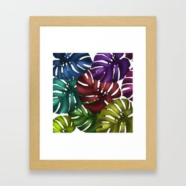 monstera leaves 3 Framed Art Print