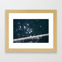 Liquid sapphire (and the old rope) Framed Art Print