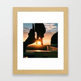 The Los Angeles Sunset Framed Art Print