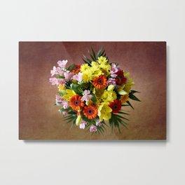 Bouquet Flowers Metal Print