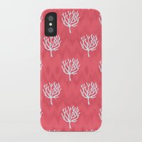 coral iPhone & iPod Cases featuring Coral by Marta Li