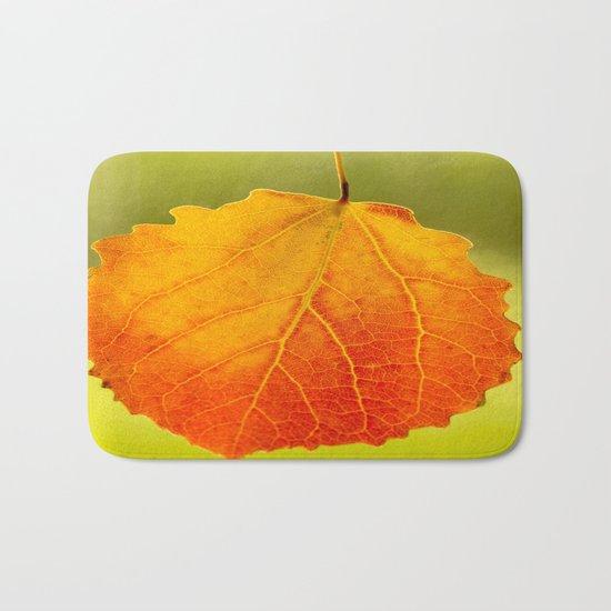 Colorful Autumn Leaf Bath Mat