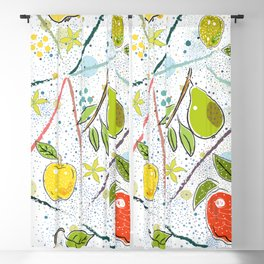 Seamless Pattern with Pears Blackout Curtain