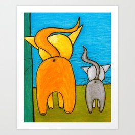 Kitty Butties Art Print