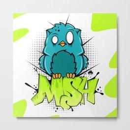 Zombie owl graffiti Metal Print