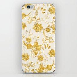 Oriental birds gold iPhone Skin