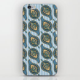 Blue Paisley iPhone Skin