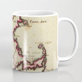 Vintage Map of Massachusetts (1823) Coffee Mug