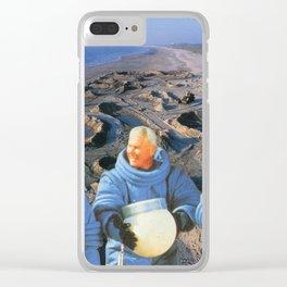 astronaute des bord de mer Clear iPhone Case