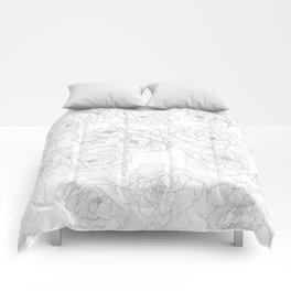 Peony Flower Pattern Comforters
