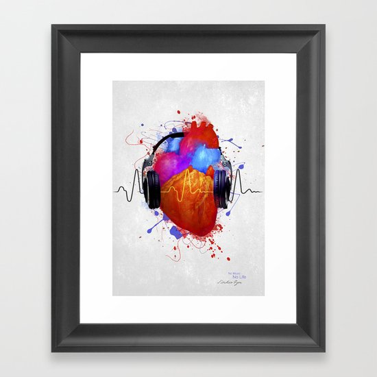 No Music - No Life Framed Art Print