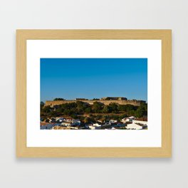 Castle of Castro Marim from the hill Framed Art Print