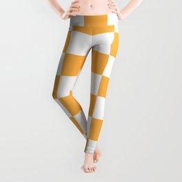Checkered - White and Pastel Orange Leggings